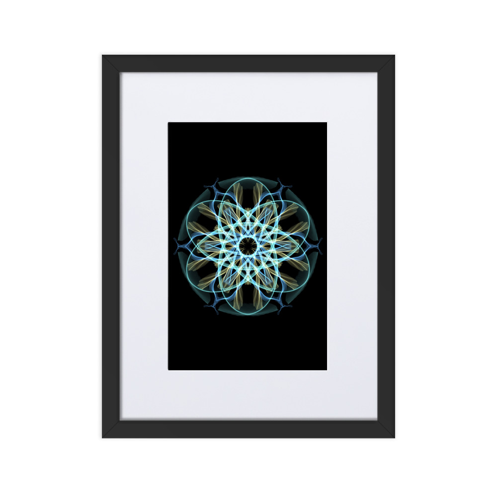 abstract mounted wall print