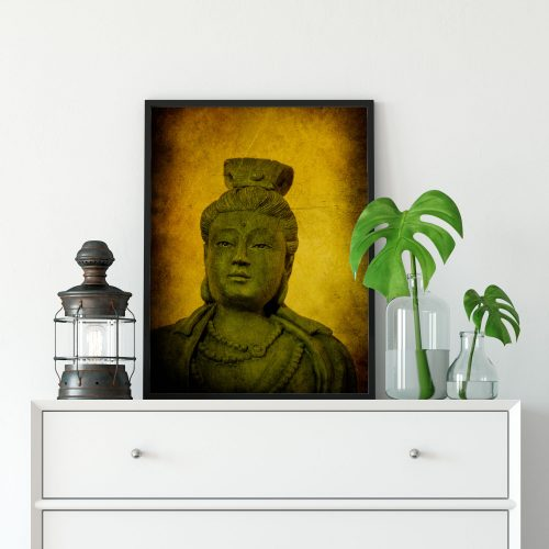 buddha meditation alter framed art print