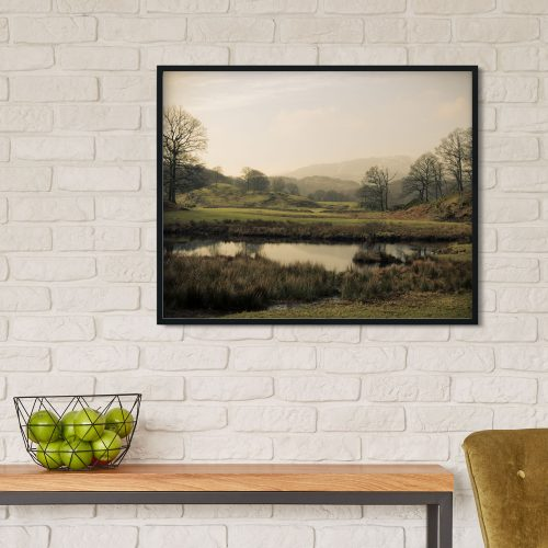 framed lake district poster art print