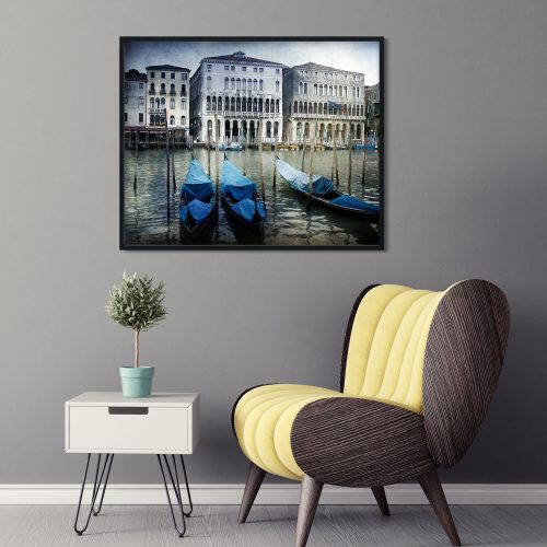 venice lagondolas wall art framed
